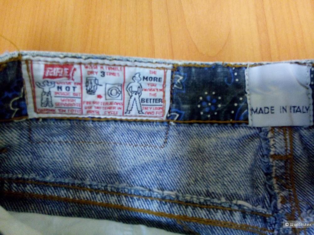 Юбка джинсовая классика  высокая посадка RIFLE Италия размер 28