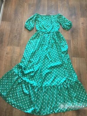 Длинное платье из шёлка,раз.S