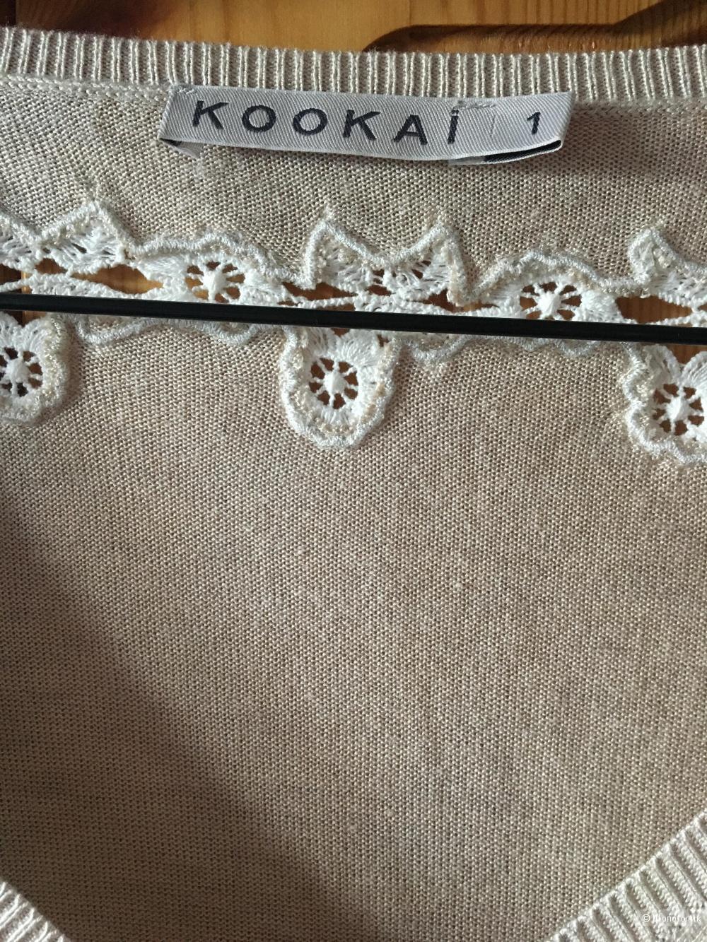 Бежевый тонкий джемпер KOOKAI, размер дизайнерский 1 (на росс.44-46)