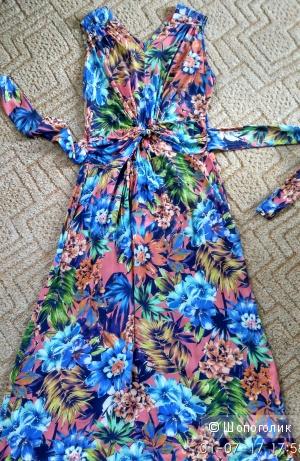 Длинное летнее платье в пол размер 46-48