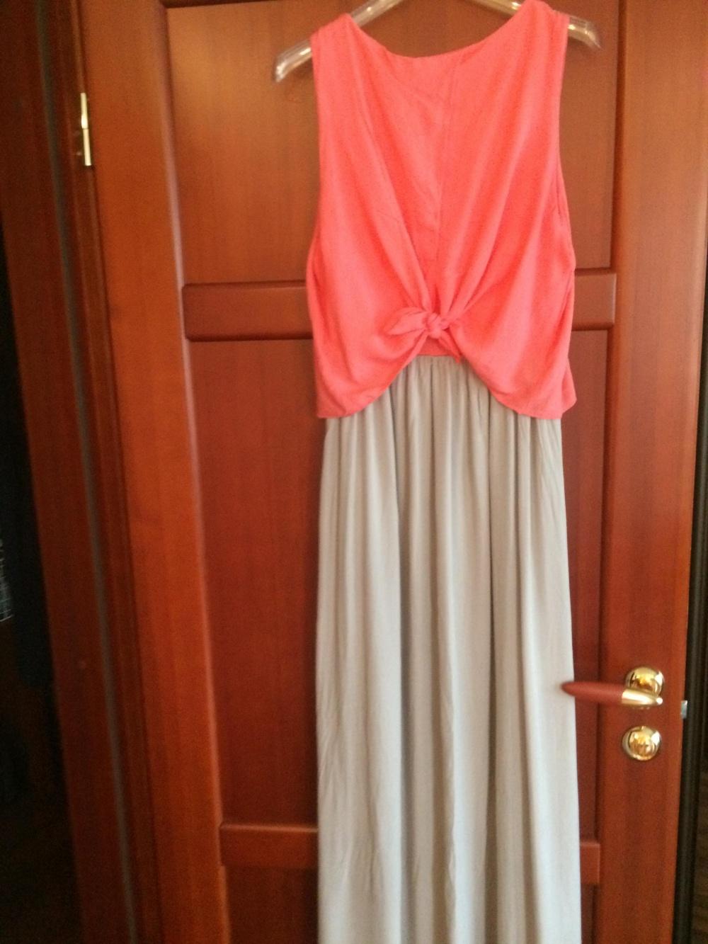 Длинное летнее платье , размер 46-48