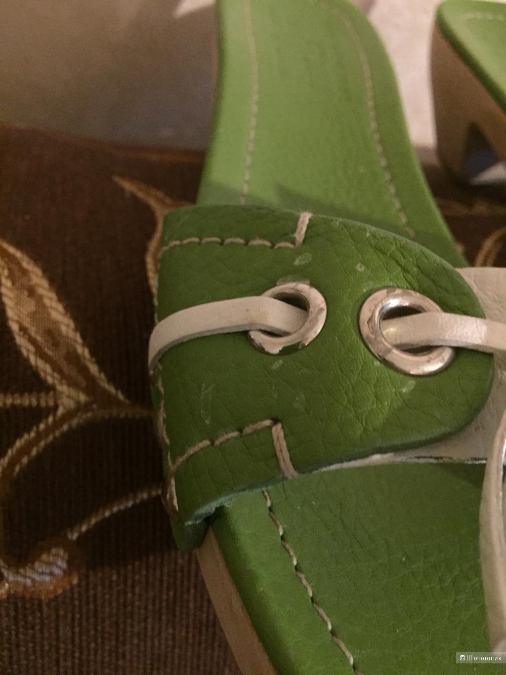 Сабо на деревянной подошве Car Shoe 38