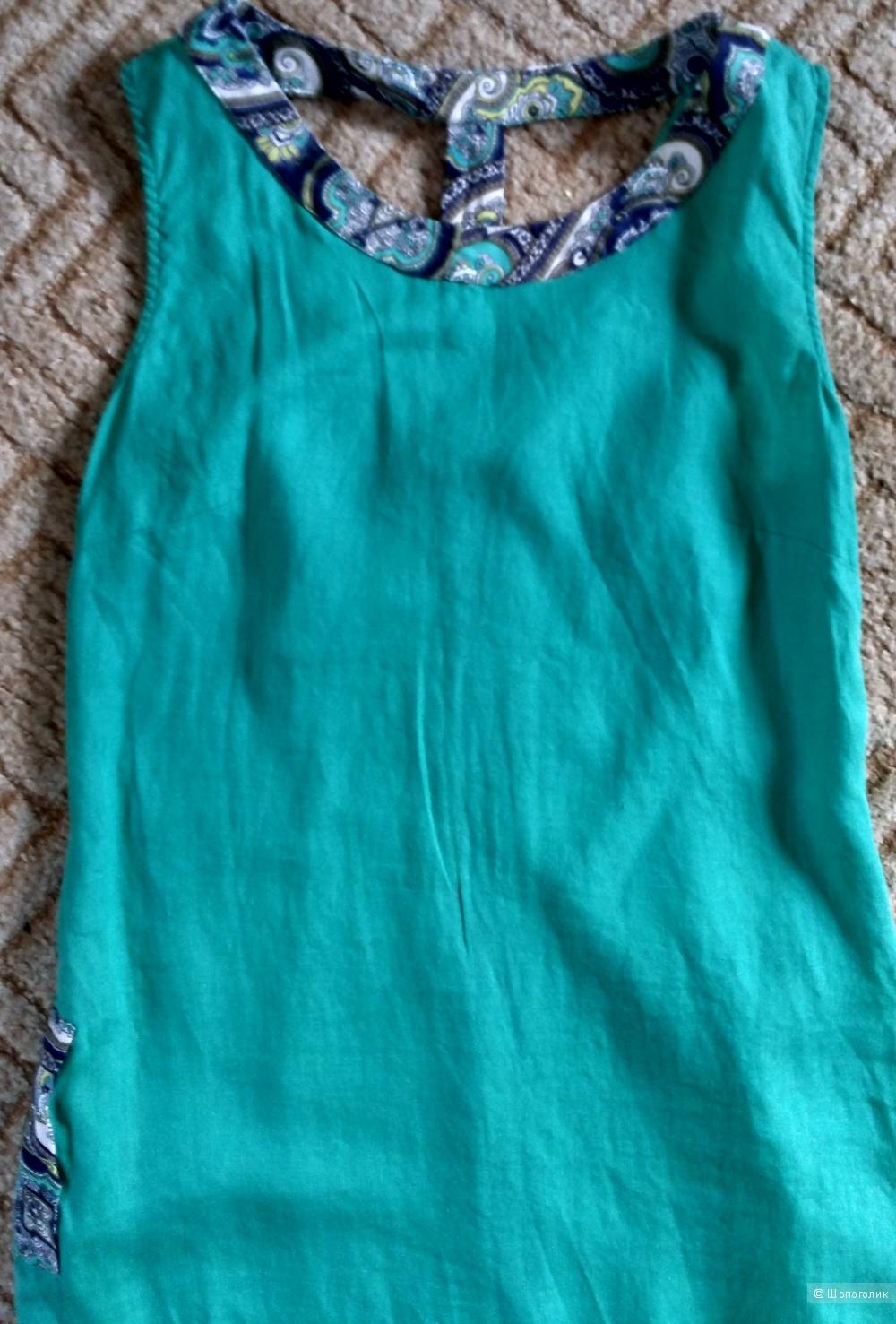Платье льняное длинное в пол размер 46-48