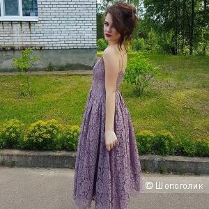 Кружевное платье миди для выпускного ASOS, 40/42