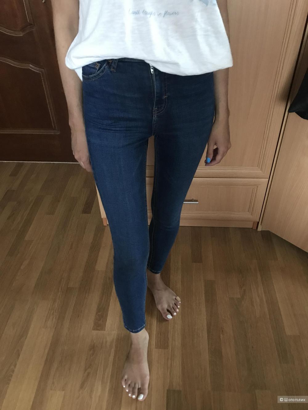 Узкие джинсы Topshop в 24 размере, модель Jamie, цвет indigo