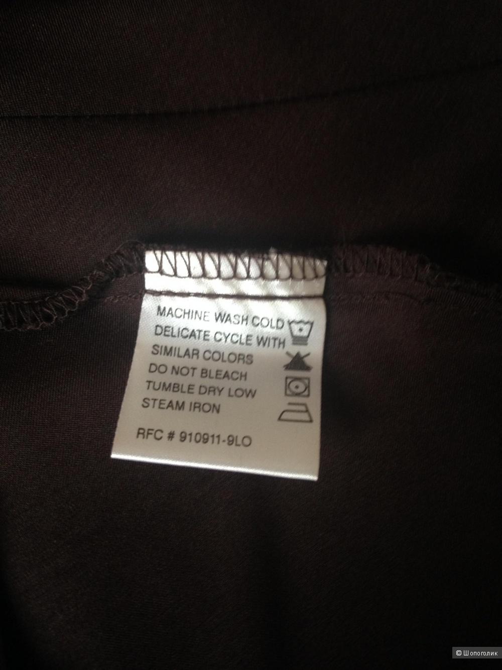 Топ английского бренда George в бельевом стиле, глубокого шоколадного цвета, размер L (12-14 UK)