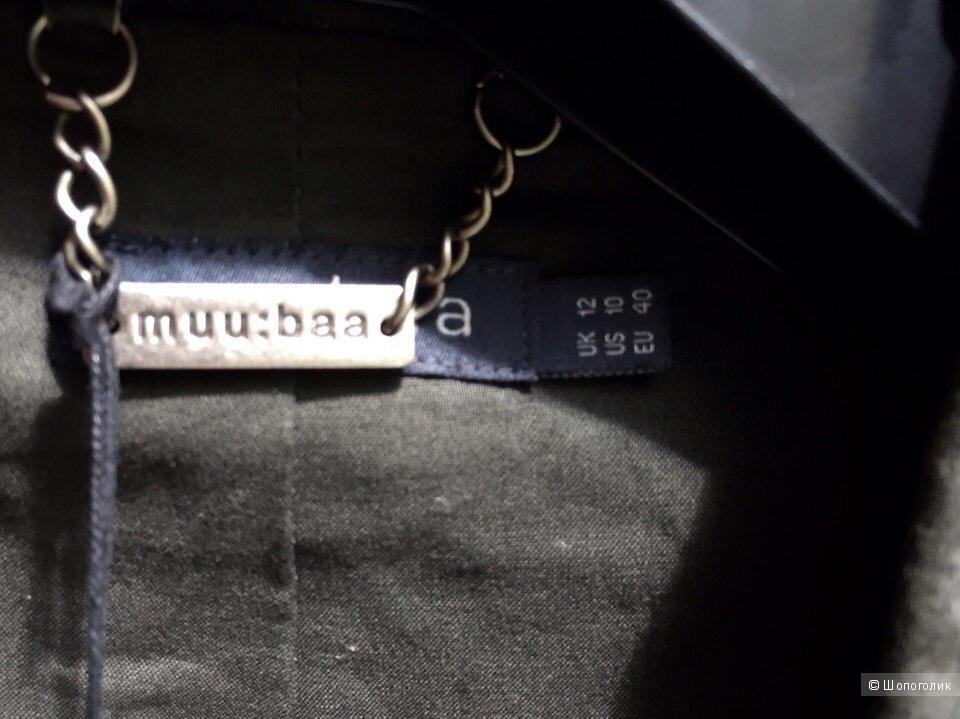 Кожаная куртка muubaa новая размер M темно-зеленого цвета