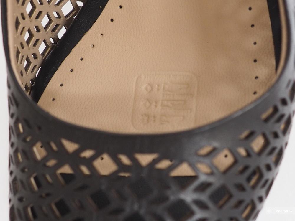 Босоножки на платформе, высокий каблук, черные, размер 38, новые, Италия