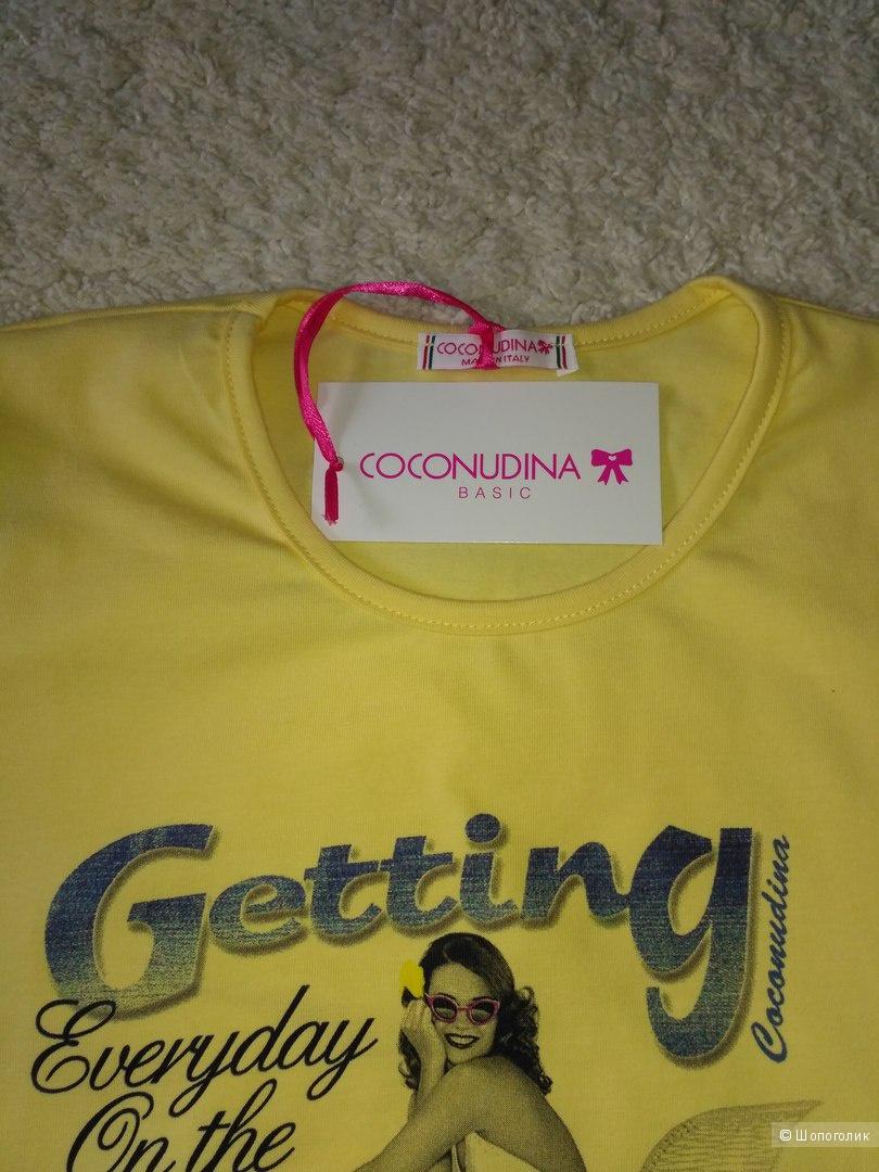 Костюм: футболка + шорты COCONUDINA (Италия). Размер 158-164 (либо взрослый XS)