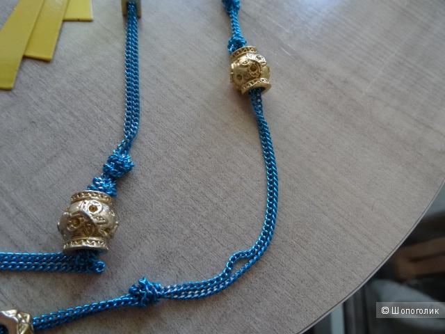 Браслет, серёжки и цепочка, б/у