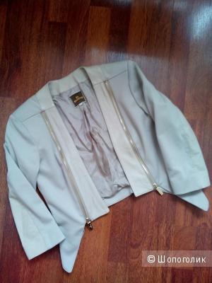 Куртка-болеро(трикотаж-натуральная кожа) GIL SANTUCCI Италия в размере 42 (ИТ)44 росс.