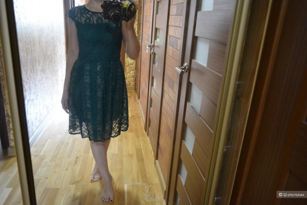 Гипюровое платье размер 42