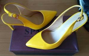 Жёлтые босоножки Spagna, р-р 37