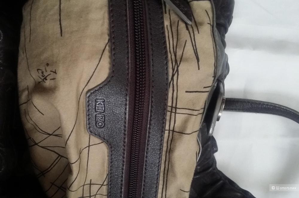 Сумка-мешок KENZO коричнево-сливового цвета.
