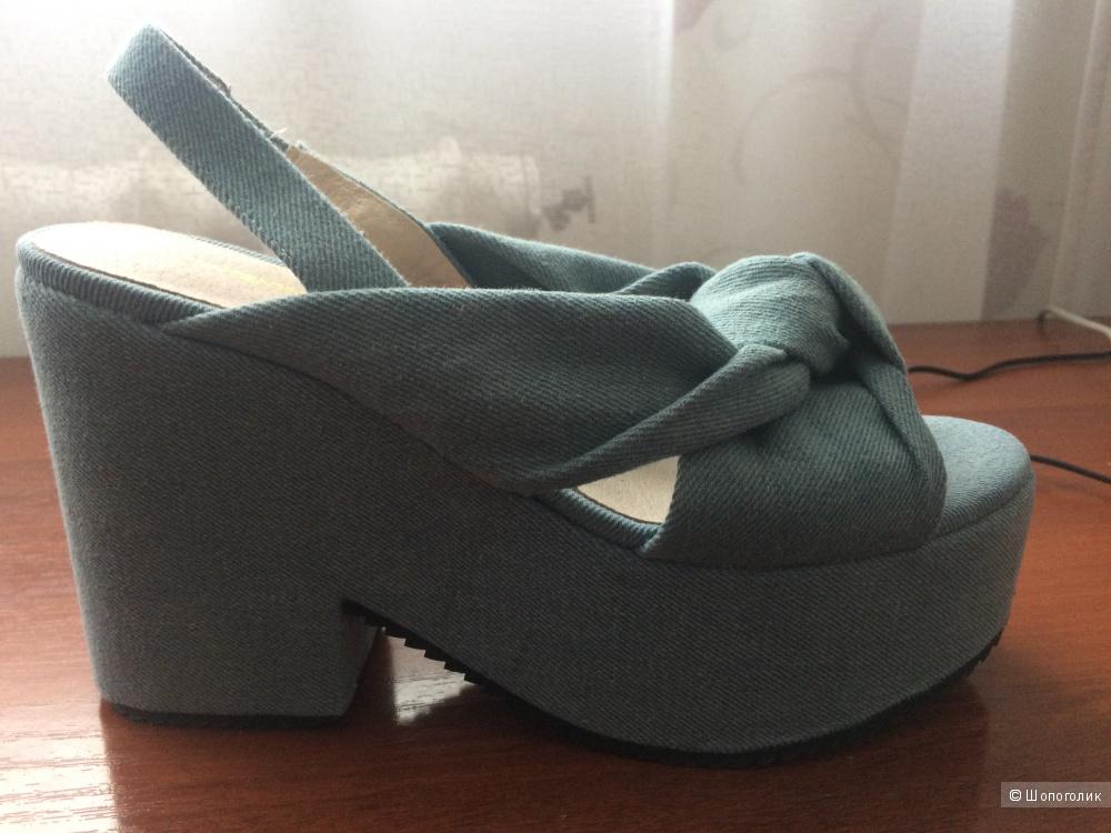 Джинсовые сандалии INTENTIONALLY, 38 размер