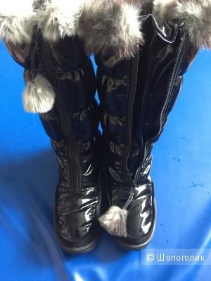 Теплые зимние сапоги Scandia-Tex разм 34 для девочки