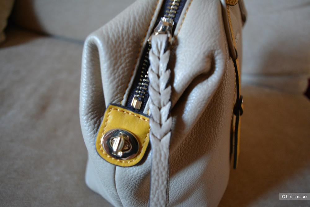 Бежевая сумка Nobel натуральная кожа