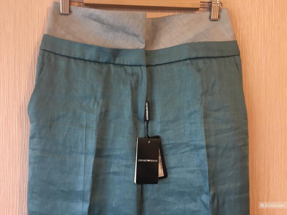 Новые льняные брюки 46рус,