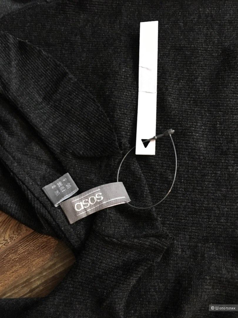 Платье в рубчик на тонких бретельках ASOS 42-44