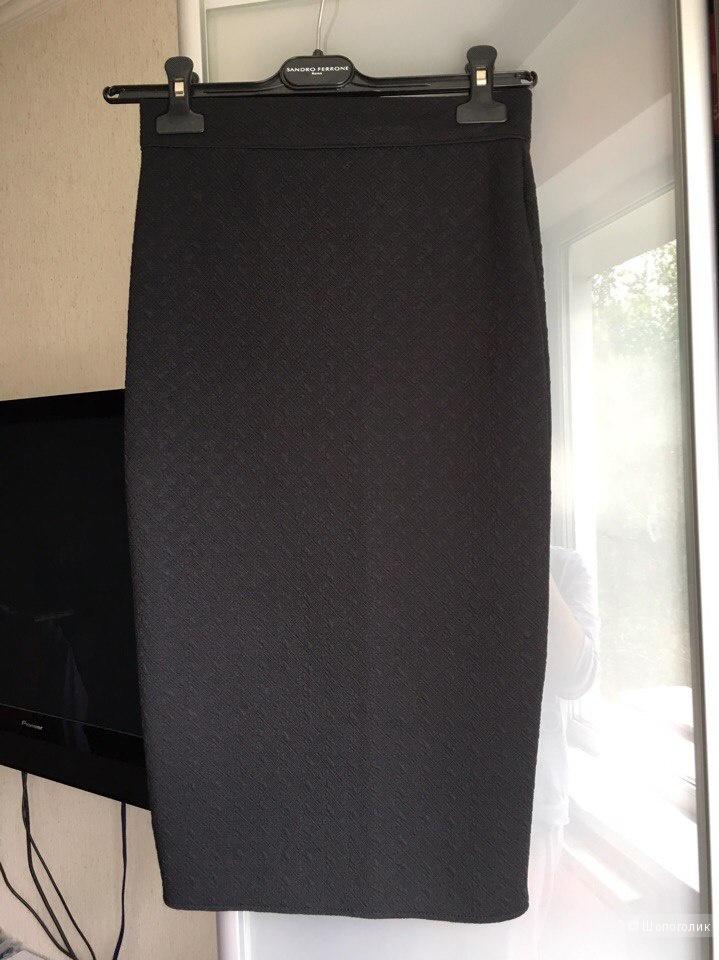 Костюм  черная юбка и укороченный джемпер Золотой песок