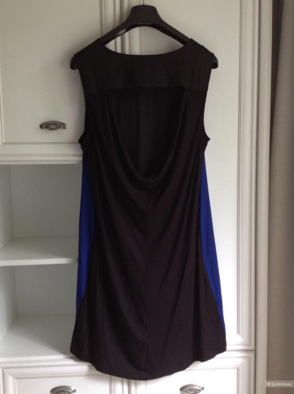 Платье колор-блок  BCBG Max Azria, oversize, размер 48-52.