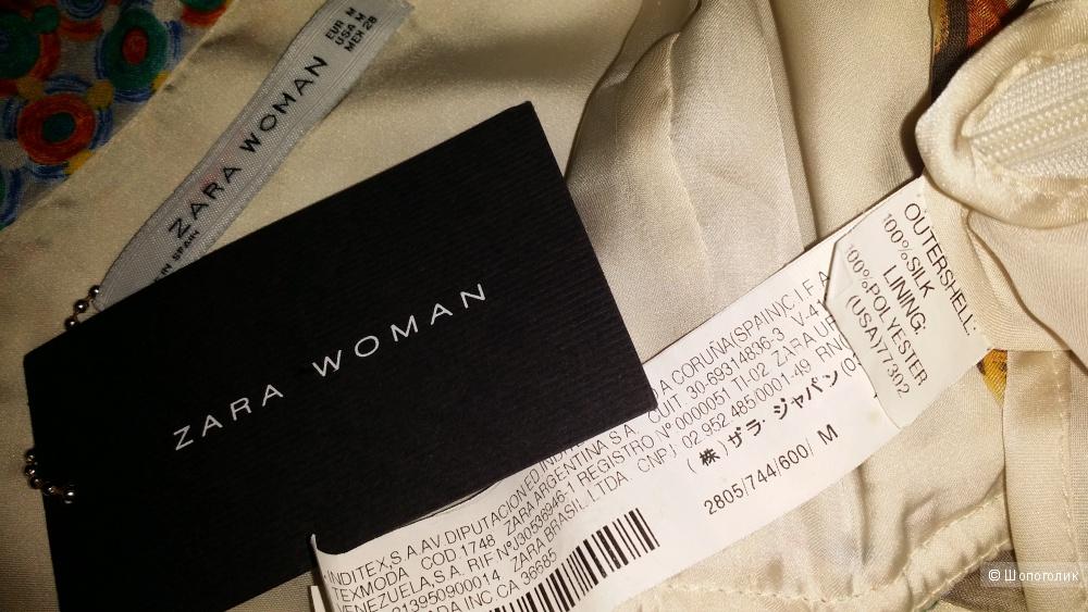 Zara Woman шелковый топ, М