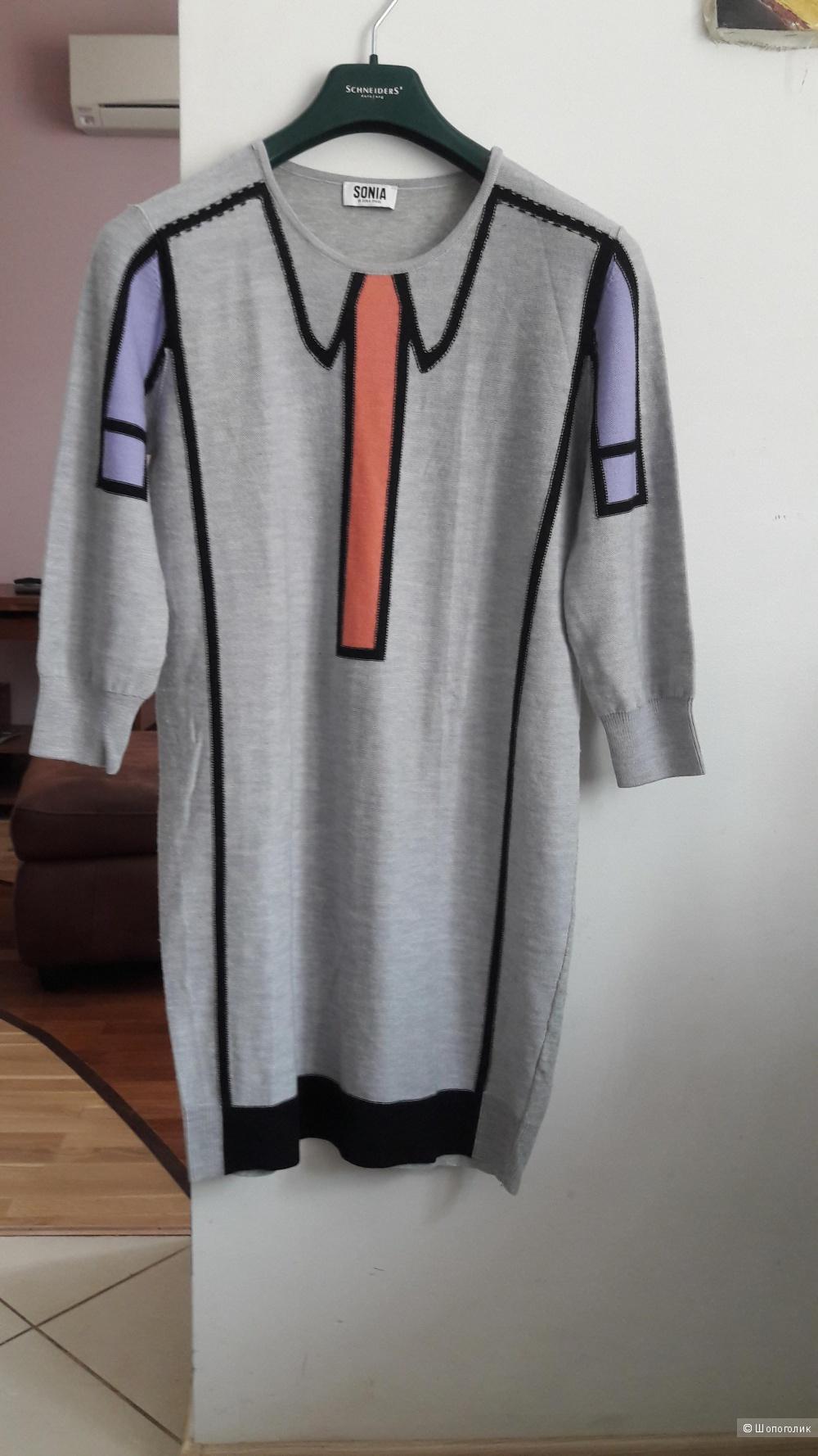 Платье туника Sonia by Sonia Rykiel 100 процентная шерсть размер L