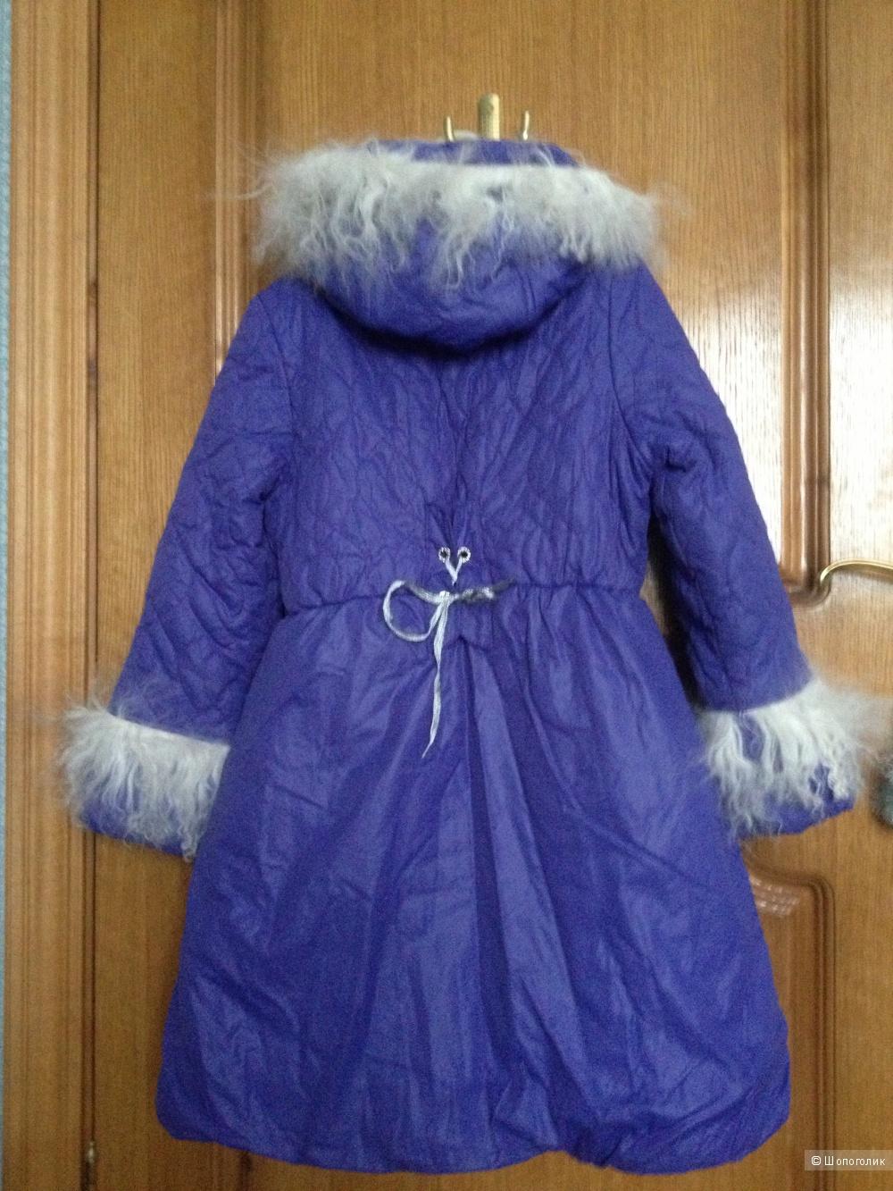 Теплое пальто ф. Orby марк 128 для девочки