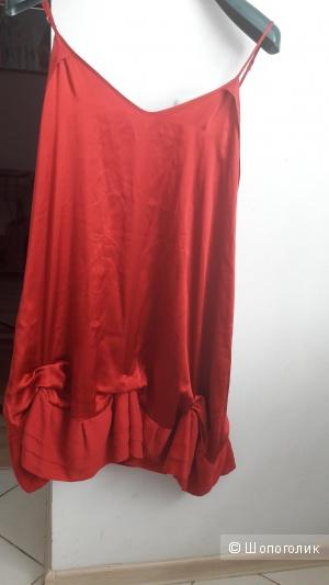 Шелковое платье Maje размер L