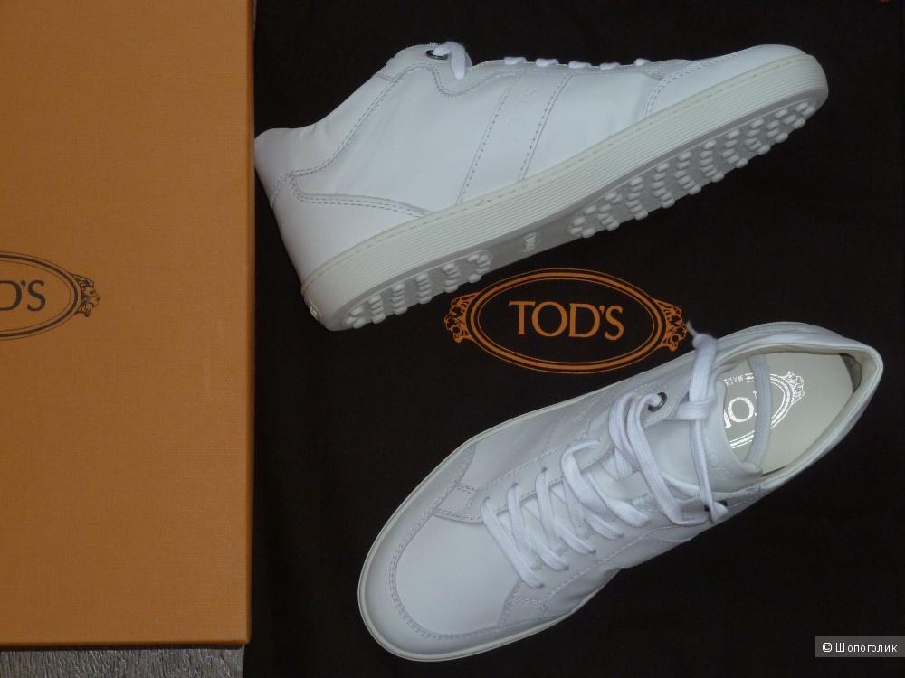Кожаные кроссовки TOD'S размер 36,5