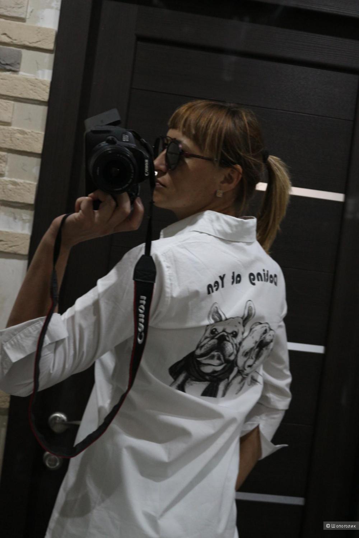 Рубашка белая удлиненная размер 42-44