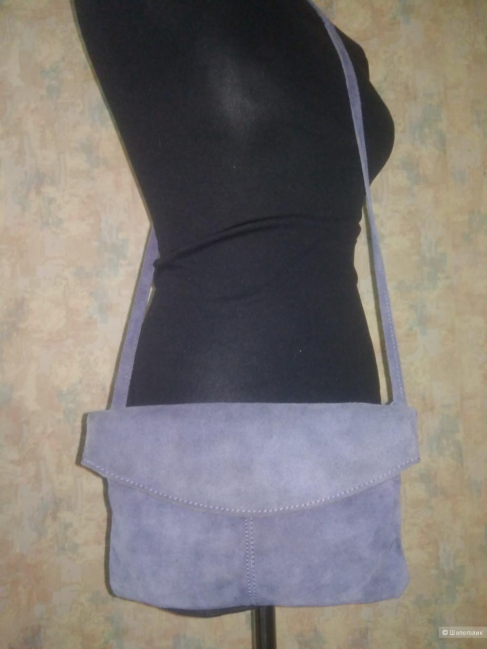 Замшевая  cross- body сумочка Promod