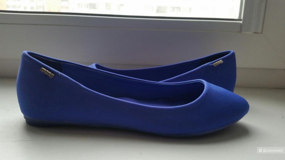 Балетки  MTNG  цвета синий электрик на 36 р-р