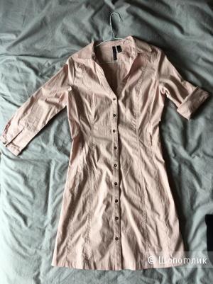 Платье рубашка сафари розовое Mango