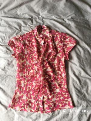 Блузка из шифона с ягодным принтом XS bluelabel