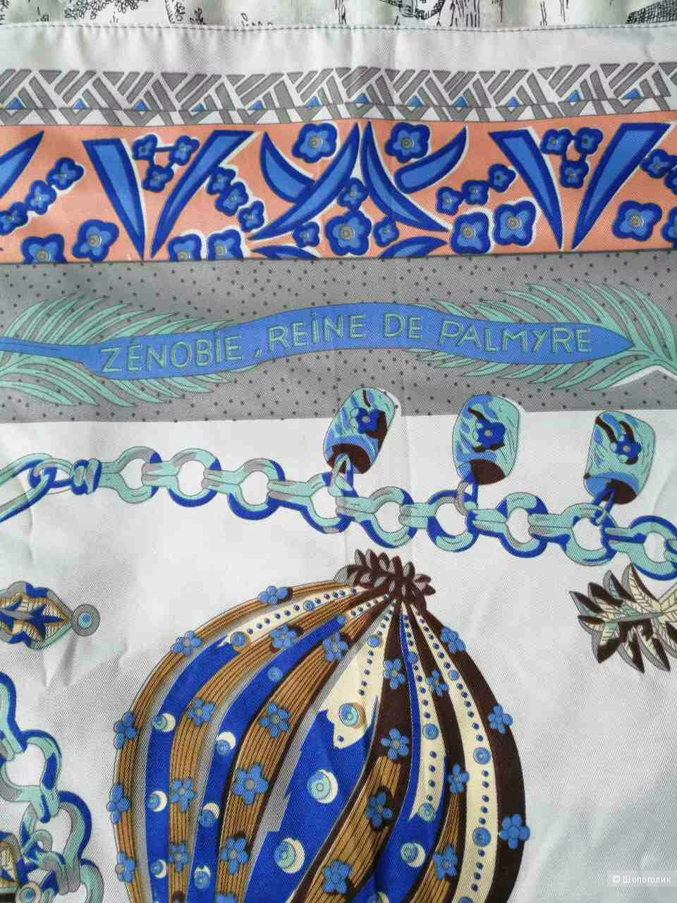 Шелковый платок реплика Hermes размер 110х110