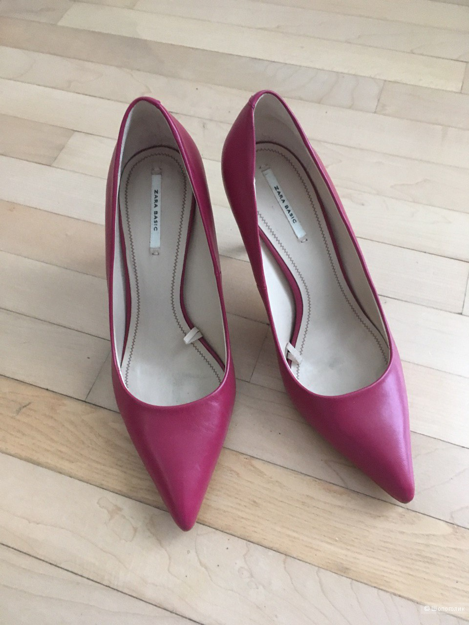 Туфли лодочки из натуральной кожи Zara
