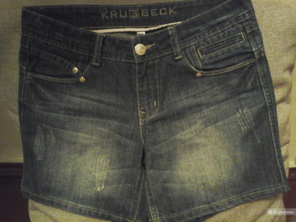 Шорты женские, джинсовые KRU3BECK, 44 размер