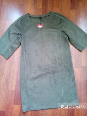 "Платье ""замша"" размер 48-50"