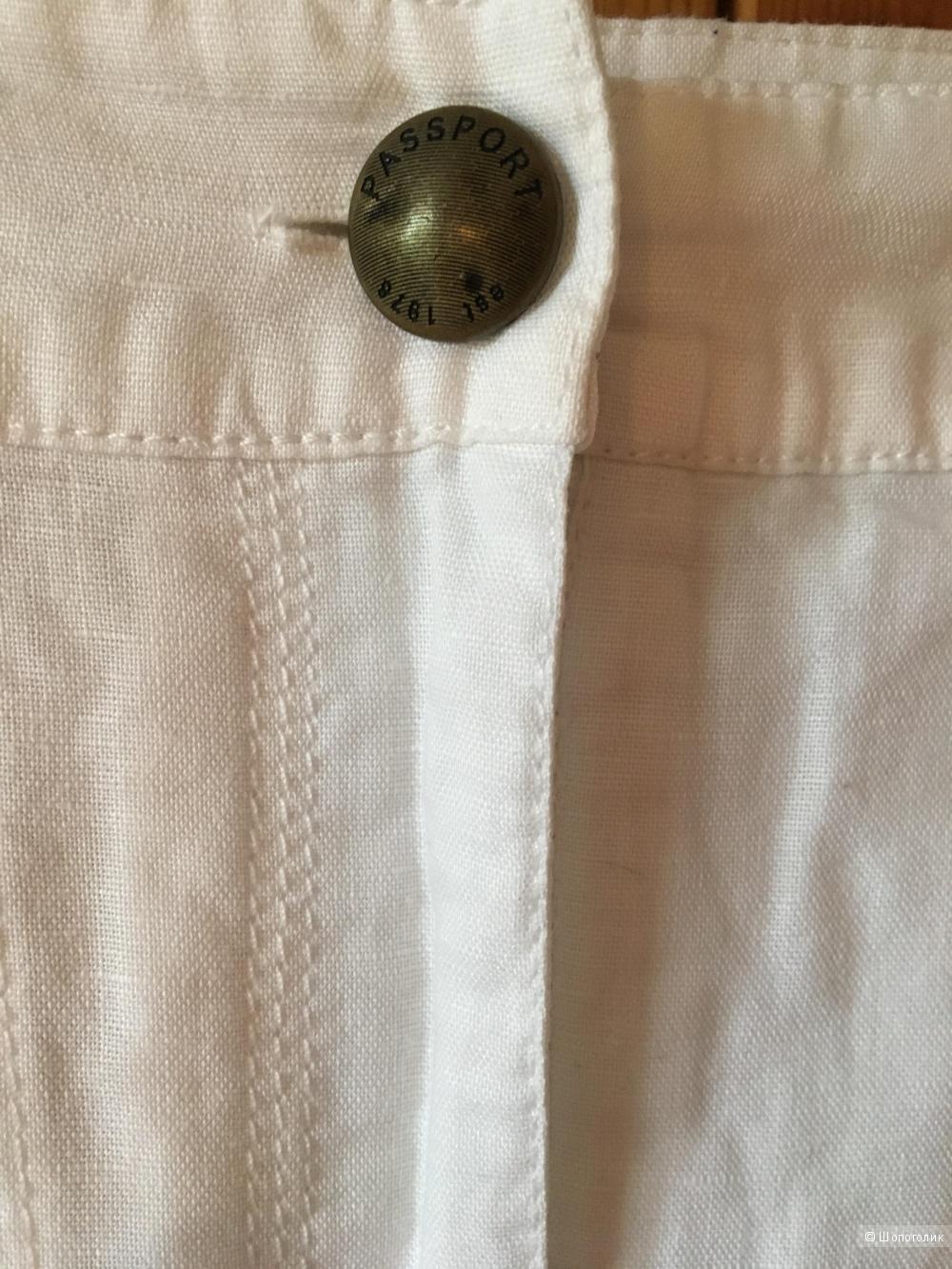 Белая юбка-карандаш лен/хлопок PASSPORT размер немецкий 38 (на 46)
