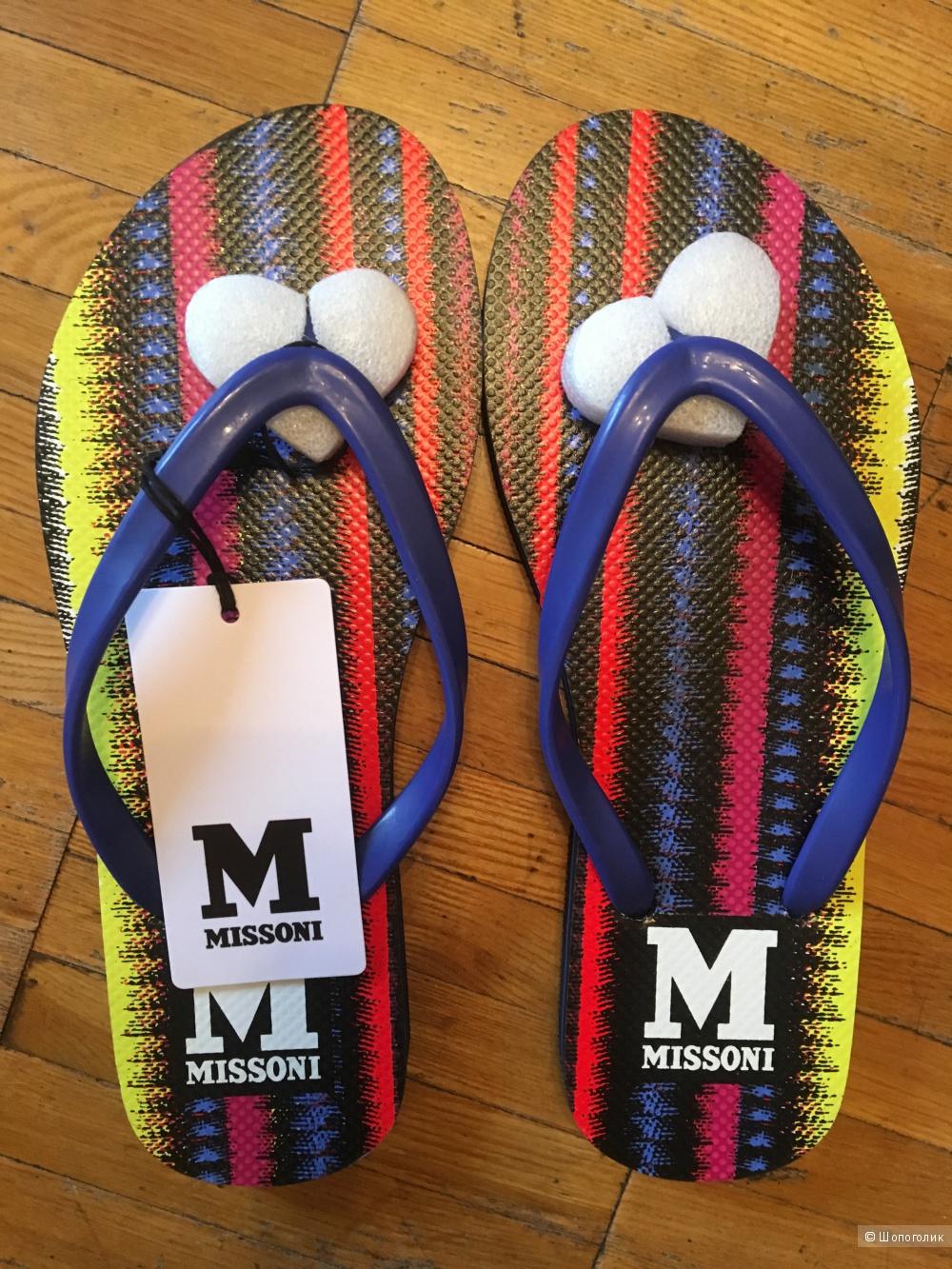 Новые шлепки M Missoni, размер IT 37