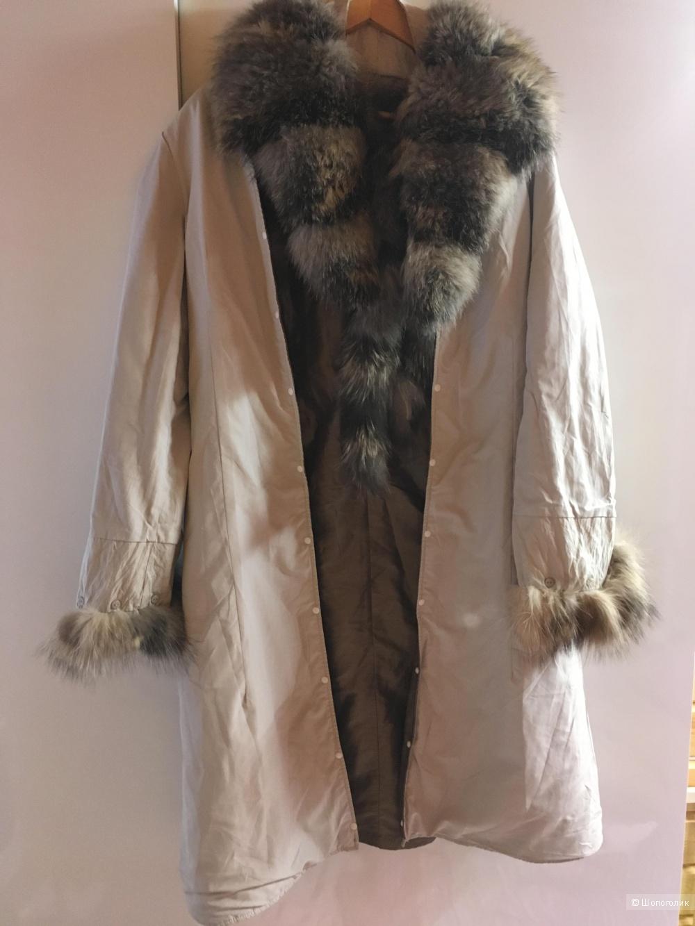 Furs World Пальто 2в1 весна-осень/зима 46-48