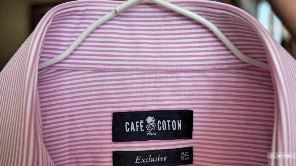 Новая мужская рубашка Cafe Coton р.39 по вороту