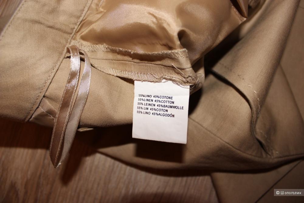 Брючки-чиносы OVIESSE, лен/хлопок, размер 46-48