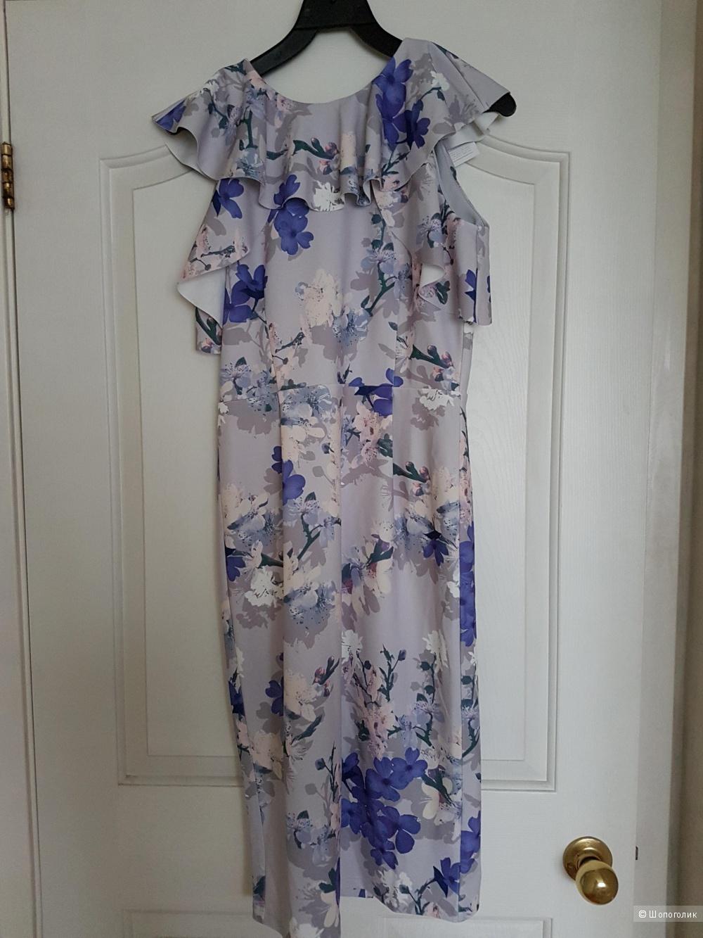 Платье ASOS размер 10 uk на наш 42-44 с цветочным принтом