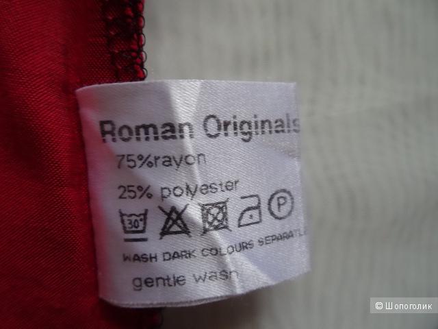 """Топ с цветами """"Roman Originals"""", размер 42-44, б/у"""