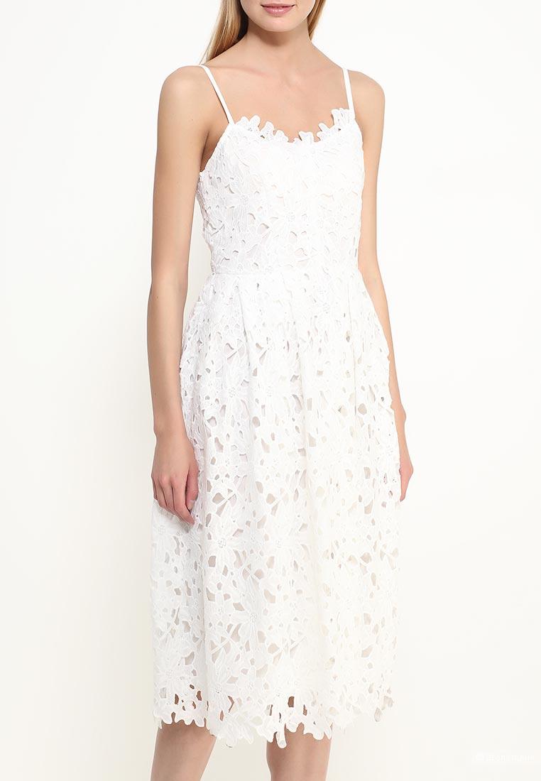 Белое кружевное платье р-р 42 df05e1110d690
