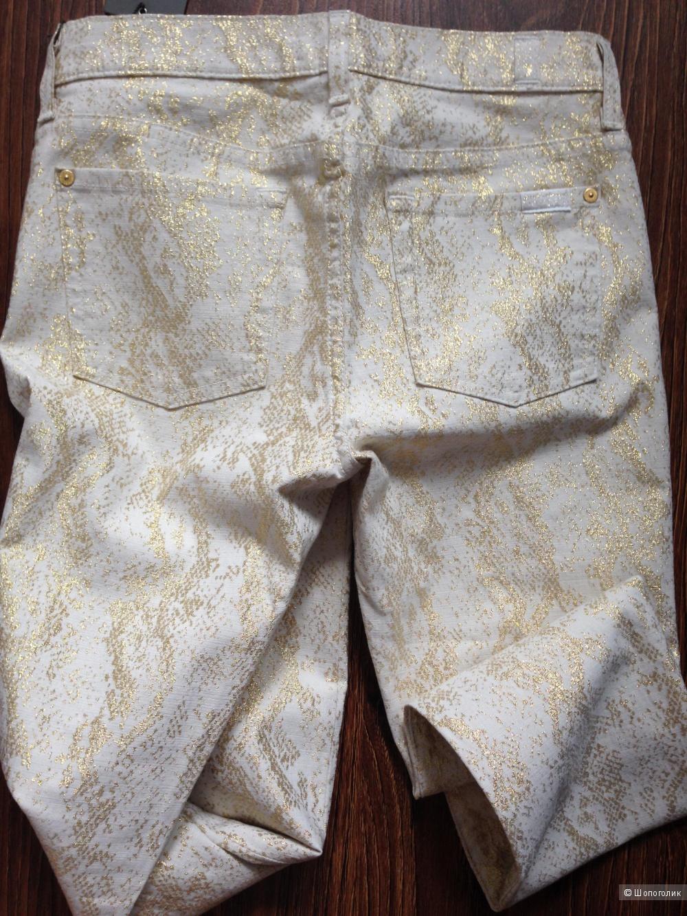 7 FOR ALL MANKIND летние золотые джинсы р.28 (44).новые.оригинал
