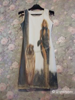 Лёгкое летнее платье с эффектом 3D размер 42 - 44 размер.