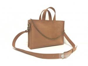 Кожаная сумочка потрясающего цвета